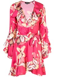 Patbo Floral Mini Dress With Ruffles Pink