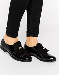 Truffle Collection High Cut Loafer Black Patent Mf