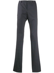 Etro All Over Motif Trousers Blue