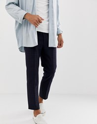 Weekday Tailored Trousers In Blue Check