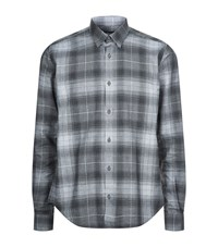 Barbour International Track Check Shirt Male Grey