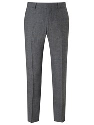 Richard James Mayfair Milled Prince Of Wales Check Suit Trousers Charcoal