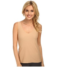 Commando Cotton Tank Top Cctk09bx Nude Women's Sleeveless Beige