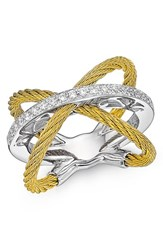 Women's Alor X Crossover Diamond Ring Yellow