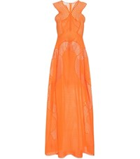 Stella Mccartney Cotton Blend Maxi Dress Orange
