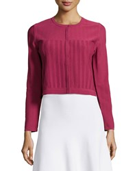Prabal Gurung Jewel Neck Cropped Bolero Wine Red