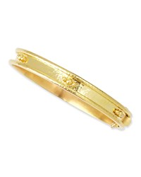 19K Gold Flat Thin Bangle With Granulation Elizabeth Locke