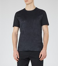 Reiss Dinnington Mens Contrast Panel T Shirt In Black