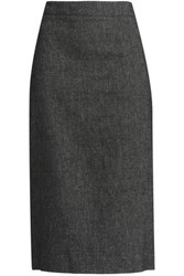 Dkny Paneled Linen Pencil Skirt Charcoal