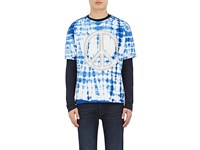 Acne Studios Men's Niagara Peace Sign Shirt Blue