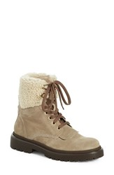 Women's Moncler 'Patty Scarpa' Genuine Shearling Trim Ankle Boot