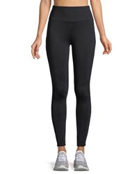 Lanston Dixon Side Panel Full Length Performance Leggings Black