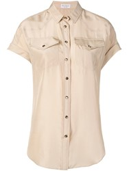Brunello Cucinelli Short Sleeved Shirt Neutrals