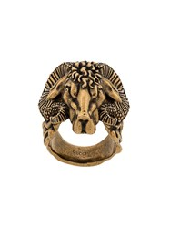 Gucci Antico Engraved Ring Gold