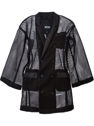 Ktz Double Breasted Mesh Jacket Black
