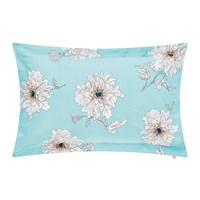 Joules Linear Peony Pillowcase Blue