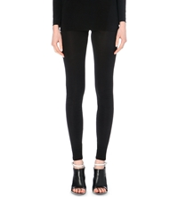 Maison Martin Margiela Semi Sheer Skinny Crepe Trousers Black