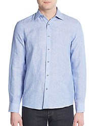 Report Collection Regular Fit Linen Sportshirt Royal Blue