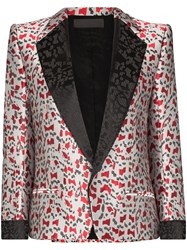 Haider Ackermann Abstract Jacquard Blazer Grey