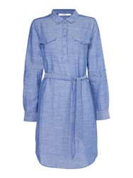 Dickins And Jones Bonded Jersey Dress Blue