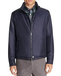 Brooks Brothers Fulton Lightweight Bomber Jacket Navy