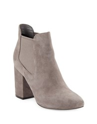 Cole Haan High Heel Suede Ankle Boots Stormcloud Grey