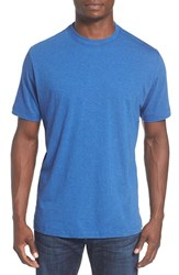 Left Coast Tee Men's Melange Pima Cotton T Shirt New Bright Blue Melange