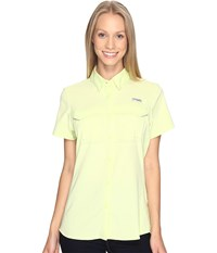Columbia Lo Drag Short Sleeve Shirt Spring Yellow Women's Short Sleeve Button Up