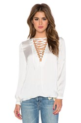 Wyldr It's A Wrap Blouse White