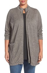 Plus Size Women's Eileen Fisher Hemp And Organic Cotton Stand Collar Jacket
