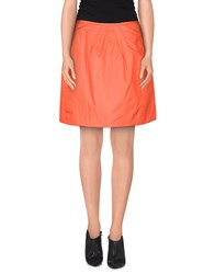 Niu' Skirts Knee Length Skirts Women Orange
