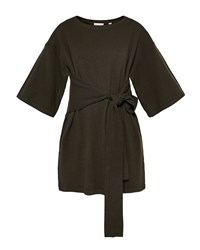 Ted Baker Olympy Tie Front Knitted Tunic Khaki