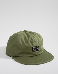 Brixton Jonas Cap With Adjustable Strap Green