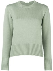 Zanone Round Neck Jumper Green