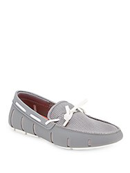 Swims Mesh Lace Up Loafers Grey