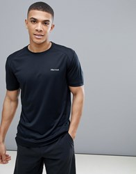 Marmot Active Windridge Ss Running T Shirt In Black