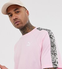 Puma T Shirt With Snake Print Taping In Pink Exclusive At Asos