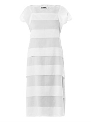 Jil Sander Sheer Stripe Cotton Dress