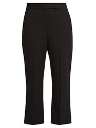 Alexander Mcqueen Kick Flare Cropped Tailored Trousers Black