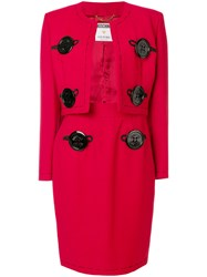 Moschino Vintage Two Piece Suit Red