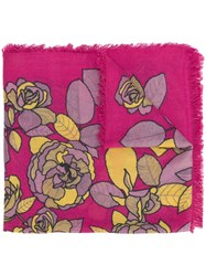 Hemisphere Plower Scarf Pink And Purple