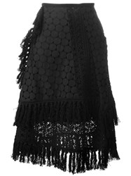 See By Chloe Crochet Layered Skirt Black