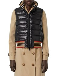 Burberry Tb Logo Quilted Nylon Vest Black