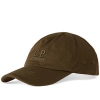 C.P. Company Logo 6 Panel Cap Green