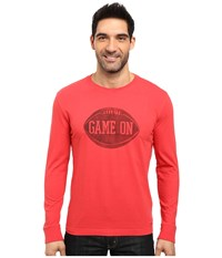 Life Is Good Game On Football Crusher Long Sleeve Simply Red Men's Long Sleeve Pullover