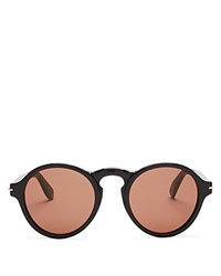 Givenchy Keyhole Round Sunglasses 51Mm Black Dark Brown