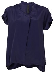 Ilaria Nistri Shortsleeved Blouse Blue