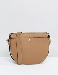Warehouse Pocket Popper Acrossbody Bag Beige