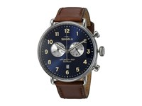 Shinola Detroit The Canfield 43Mm 20001940 Midnight Blue Dark Cognac Watches Midnight Blue Dark Cognac