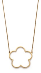 Marc By Marc Jacobs Daisy Window Pendant Necklace Crystal Oro